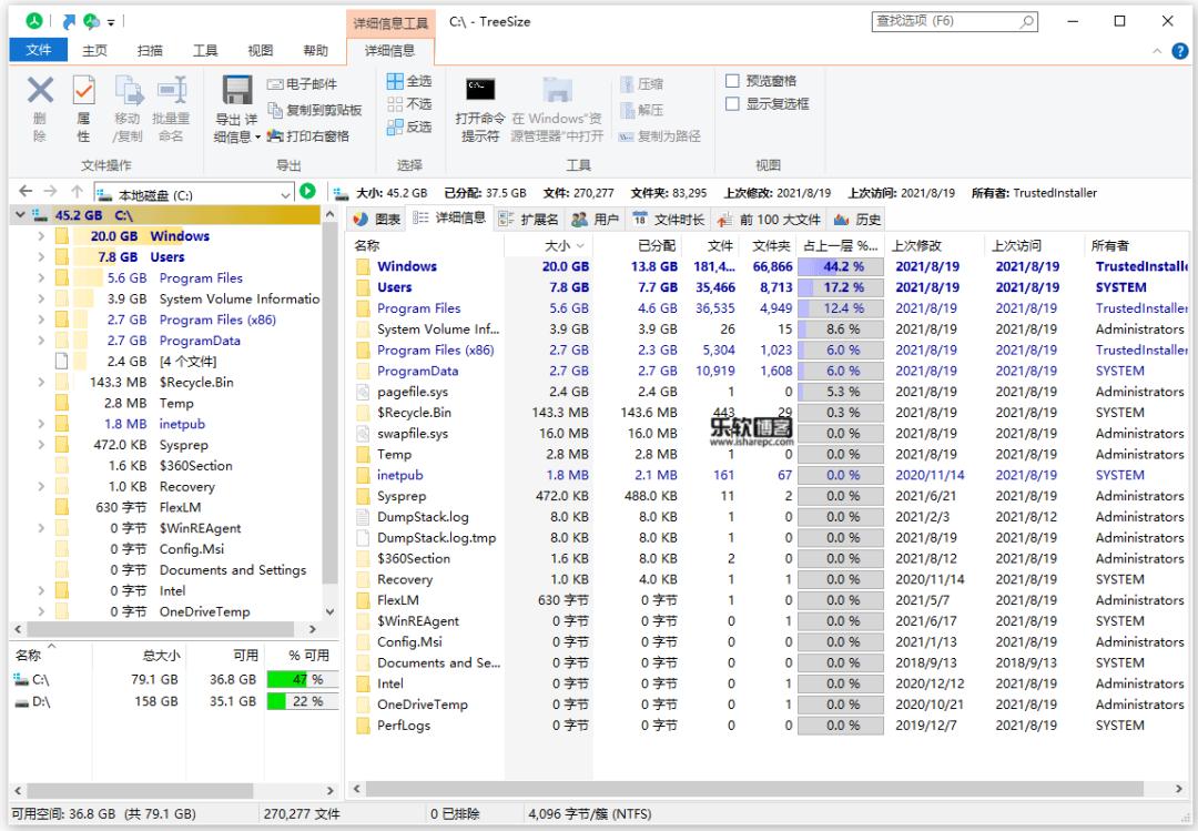 TreeSize磁盘空间分析利器